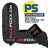 Reifenwärmer Tire Warmers RACEFOXX PRO DIGITAL bis max. 99° C SUPERBIKE, 120/17 vorne und 180 bis 200/17 hinten für Motorradreifen Rennsport Heizdecken