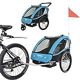 Tiggo Remolque de Bici para niños con Kit de Footing - Azul BT502-D03