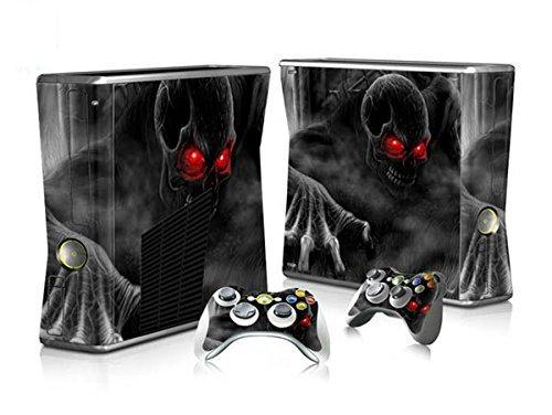 XBOX 360 Slim Skin Design Foils Pegatina Set - Dark Skull Motivo