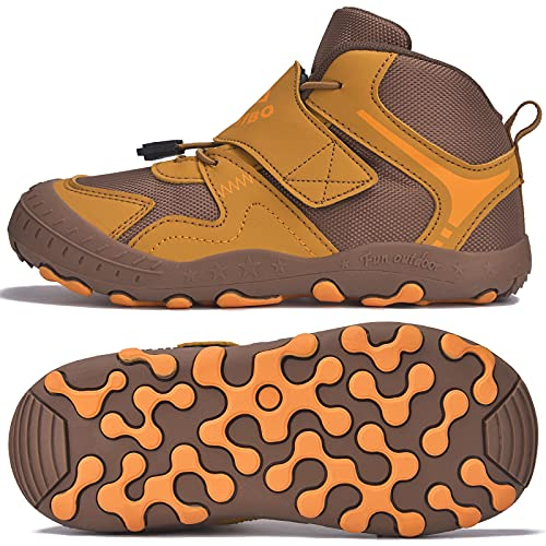 SITAILE Trekkingschuhe für Kinder Wanderschuhe Jungen Mädchen Mit Schnellverschluss Atmungsaktive Schuhe rutschfest Laufschuhe für Outdoor,03 Schwarz Pink,30EU