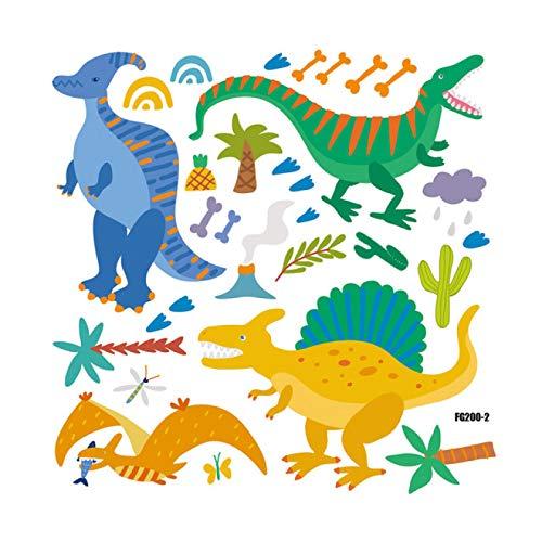 Daisucal 3 Uds Dinosaurio Animal Pegatina De Pared Reflectante Dibujos Animados Adecuado para HabitacióN De NiñOs 28 * 28 Cm