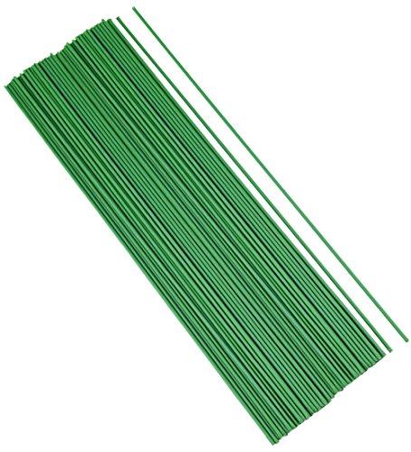 FiveSeasonStuff 100pcs Verde plastica Avvolto Fili di Ferro Fiore steli per Fiori Artificiali, Fai da Te, progetti Artigianali (26,5 cm)