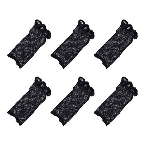 Leorx Wig Caps Mesh Pack of 10 Black