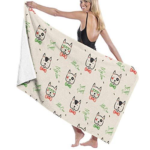 Ahdyr Toalla de baño Dachshund Dog Scandinavian Funny Toalla de Microfibra de baño 32 x 52 Pulgadas Toallas de Playa para Hombres, Mujeres, niños, Hotel, SPA, baño, Toallas