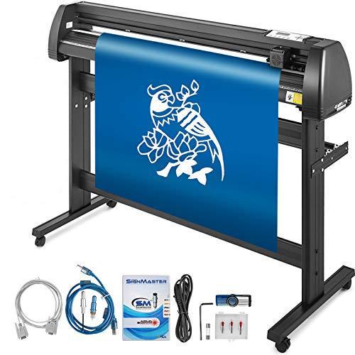 Mophorn Vinyl Cutter Machine 53 Inch Vinyl Cutter 1350mm Plotter Cutter LCD Display Vinyl Plotter Cutter Machine Signmaster Software Sign Making Machine with Stand
