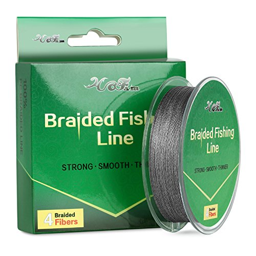 HOFAM Braided Fishing Line Gray 25LB 150YDS for Lure...