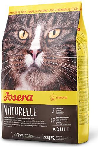 JOSERA Naturelle (1 x 2 kg)   getreidefreies Katzenfutter mit moderatem Fettgehalt   ideal für sterilisierte Katzen   Super Premium Trockenfutter für ausgewachsene Katzen   1er Pack