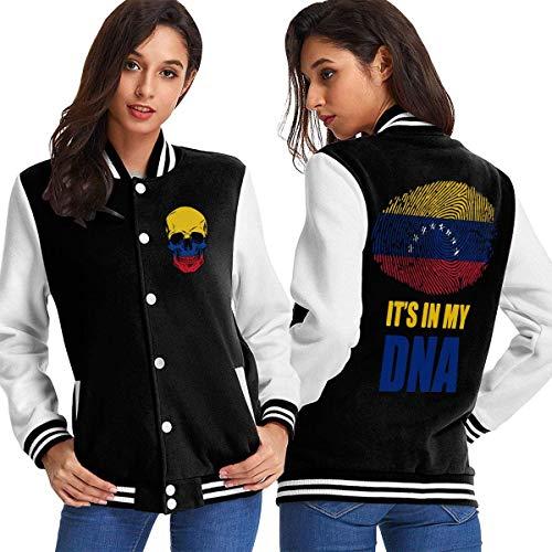 BYYKK Chaquetas Ropa Deportiva Abrigos, Venezuela It's in My DNA Women's Long Sleeve Baseball Jacket Varsity Jacket