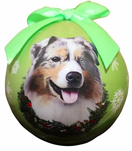 Australian Shepherd Christmas Ornament Shatter Proof Ball Easy To Personalize A Perfect Gift For Australian Shepherd Lovers by E&S Pets