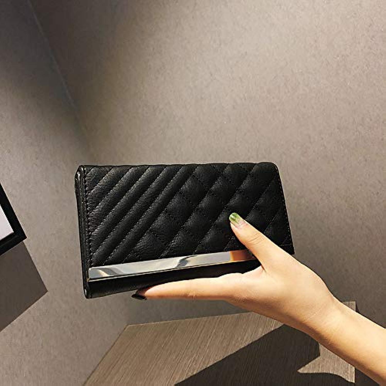 Andre Home Lingge Lange Geldbörse Geldbörse Geldbörse Damen Handtasche koreanische Handtaschen Handtasche (Farbe   schwarz) B07KQHTFRQ d17b72