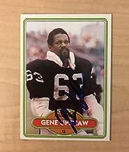 GENE UPSHAW OAKLAND RAIDERS SIGNED DECEASED 1980 TOPPS CARD #449 W/COA