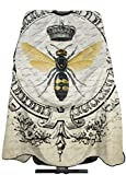 Modern Vintage French Queen Bee Haircut Hairdressing Cape Cloth Apron Hair Styling Hairdresser Cape Barber Salon