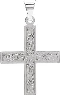 FB Jewels 14k White Gold 15.5x14mm Greek Cross Pendant