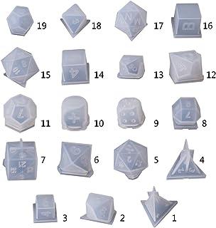 smallJUN DIY Crafts Making Crystal Epoxy Mould Pendientes Molde de Caramelo Alto Espejo Moldes de Silicona de Resina UV Molde de epoxy Transparente