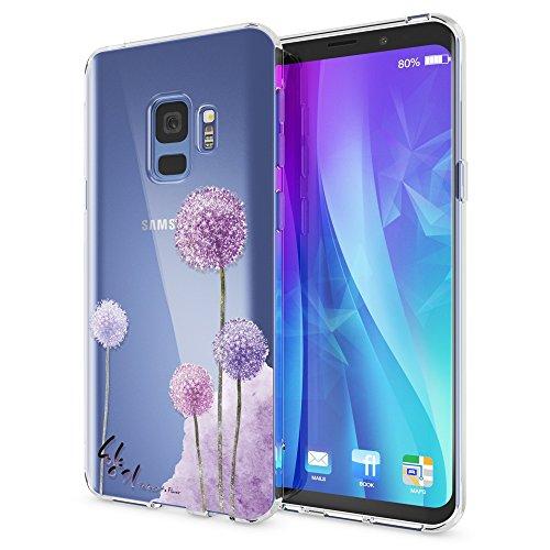 NALIA Handyhülle kompatibel mit Samsung Galaxy S9, Slim Silikon Motiv Hülle Crystal Schutzhülle Dünn Durchsichtig, Etui Handy-Tasche Back-Cover Transparent Bumper, Designs:Dandelion Pink