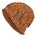Tiger Stripes Orange Pattern Winter Fashion Beanie Hat Warm Adult Innocent Urinal Cap