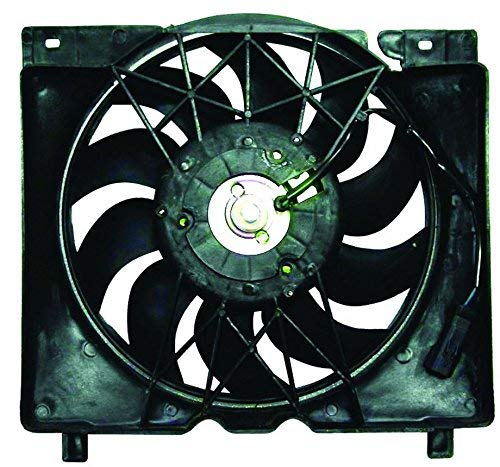 Dual Radiator and Condenser Fan Assembly - Pacific Best Inc For/Fit CH3115106 97-01 Jeep Cherokee 4.0L 6Cy Inline