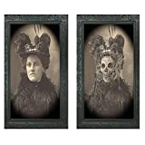 Halloween Lenticular 3D Changing Face Horror Portrait Haunted Spooky Halloween Decorative Painting Frame Props