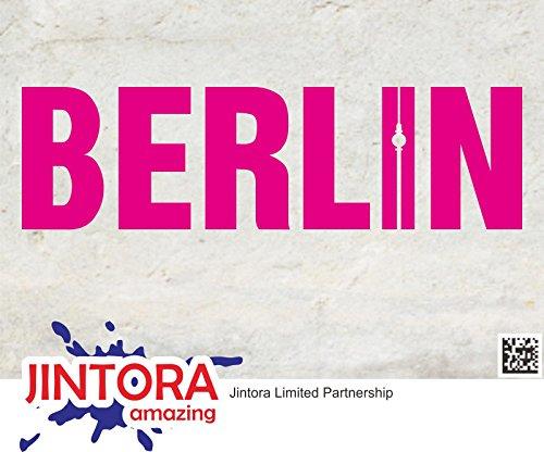 JINTORA stickers voor auto/autostickers Lettres de Berlijn - 210x60mm - JDM/Die cut - Bus - Raam - Achterruit - Laptop - LKW - Tuning