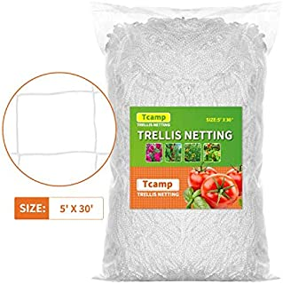 Tcamp Heavy-Duty Polyester Plant Trellis Netting 5 x 15ft (1 Pack) (5 Ft X 30 Ft)