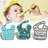 KUIDAMOS Toalla de Babero de alimentación para bebés, Material de EVA, Suministro de bebé Water-Prof y Oil-Prof,(3)
