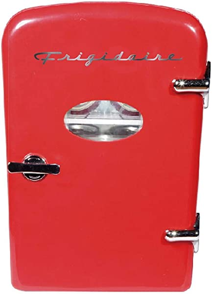 Frigidaire Retro Mini Compact Beverage Refrigerator Great For Keeping Office Lunch Cool Red 6 Can Renewed