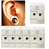 LKJYBG 6 Pairs Magnetic Slimming Earrings, Bio Magnetic Healthcare Earring Weight Loss Ear Stud Earring No Piercing Magnetic Therapy Fat Burning