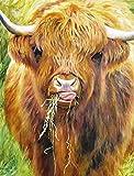 AFHK Rompecabezas 1000 Piezas de Rompecabezas de Madera Accesorios de Rompecabezas Rompecabezas y Puzzles DIY Tangram de Vaca de montaña
