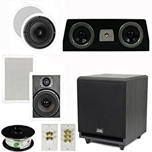 """5.1 Home Theater 6.5"""" Speaker Set with Center, 10"""" Powered Sub and More TS65CWC51SET5"""