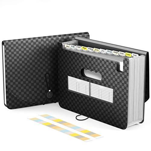 BLUE POWER JP ドキュメントファイル 13ポケット A4 書類ケースドキュメントスタンド ファイルボックス オフィス 整理 書類 収納…
