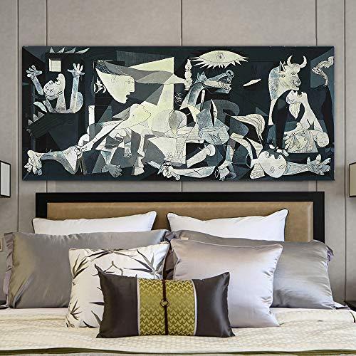 Kein Rahmen Picasso Guernica Berühmte Kunst Gemälde Drucken auf Leinwand Kunstdrucke Picasso Wandmalerei Home Decor-2