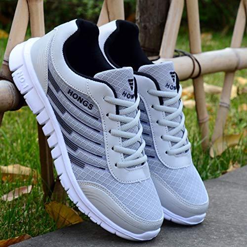 YTG Nieuwe sneakers mannen schoenen lichtgewicht wandelen mannelijke sneakers mannen casual schoenen mans trainers sneakers (Color : Gray black, Size : 42)