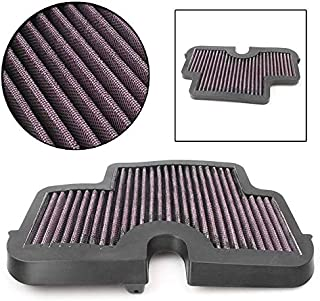 Mallofusa Motorcycle Air Cleaner Filter Element Assembly Replacement Compatible Fits for 2006-2008 Kawasaki EX650A Ninja 650R / EX650E Ninja 650 Black Red