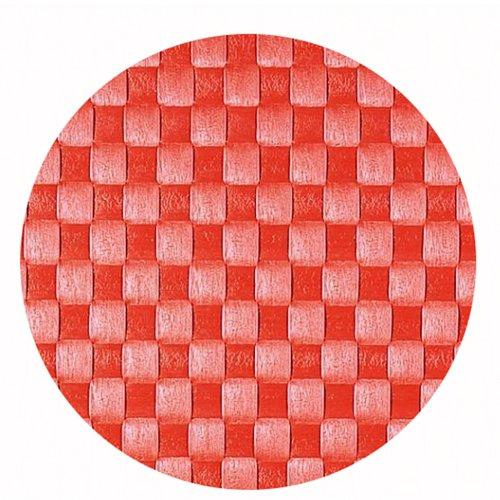 Saleen 2038680 Set de Table Rond Saumon(Orange/Rouge) 36 cm