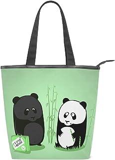 MALPLENA Panda-Love-Beach Schultertasche für Damen Arbeitstasche