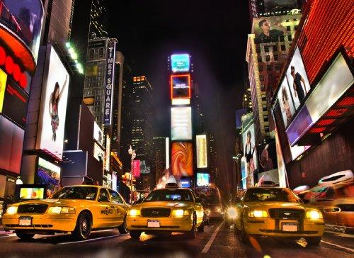 Regulär Preis 69,95 EUR! AKTIONSPREIS! 87008 Fototapete selbstklebend 8 Teile Times Square at Night 272x198cm wieder ablösbar Poster Wandposter Bildtapete photo mural wallmural Fotowand