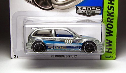 HOT WHEELS HW WORKSHOP ZAMAC '90 HONDA CIVIC EF SHOWDOWN SCAN & RACE! 197/250 by Hot Wheels