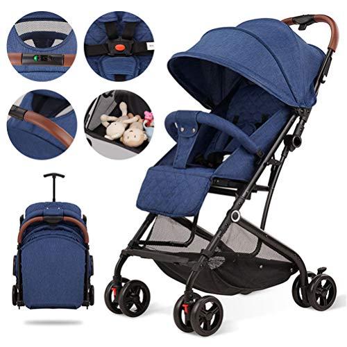 LHY EQUIPMENT Kinderwagen, Baby-Spielraum-Buggy Leicht Einfach Falten Travel Spaziergänger in Günstiger Nähe Zu Speichern Und Zu Tragen Für 0-15 Kg,Blau