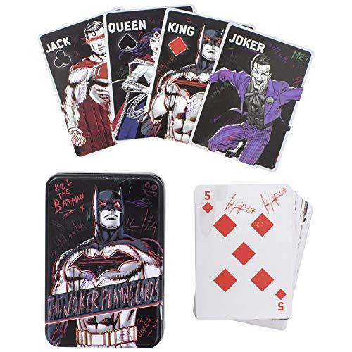 Paladone Products- Mazzo di Carte da Collezione DC Comics-Joker, Multicolore, 83E4241911