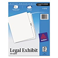 Avery Premium Collated Legal Exhibit Divider Set, Avery Style, 26-50 and Table of Contents, Side Tab, 22cm x 28cm, 1 Set (11372)