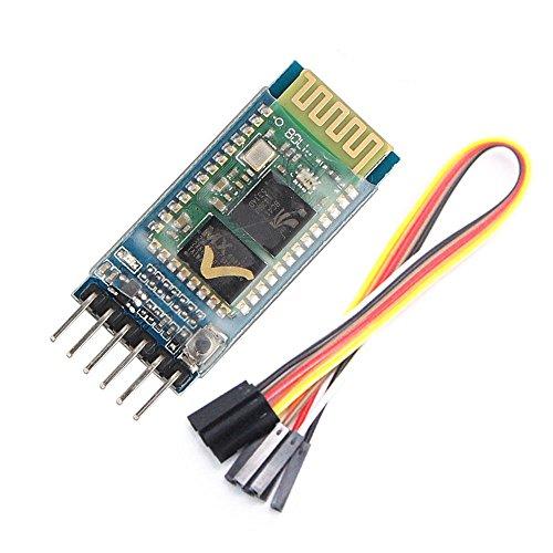 WINGONEER HC05 inalámbrica Bluetooth Módulo de transceptor Esclavo y Amo RS232 con 6 juego de cables para Arduino