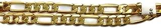 14 Karat Gold Filled 9' Figaro Anklet Ankle Bracelet