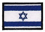 Patch Israel Flagge Klein Aufnäher Bügelbild Größe 4,5 x 3,0 cm