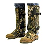 CrackShot Men's Snake Bite Proof Guardz Gaiters, Mossy Oak Break Up Country, Large