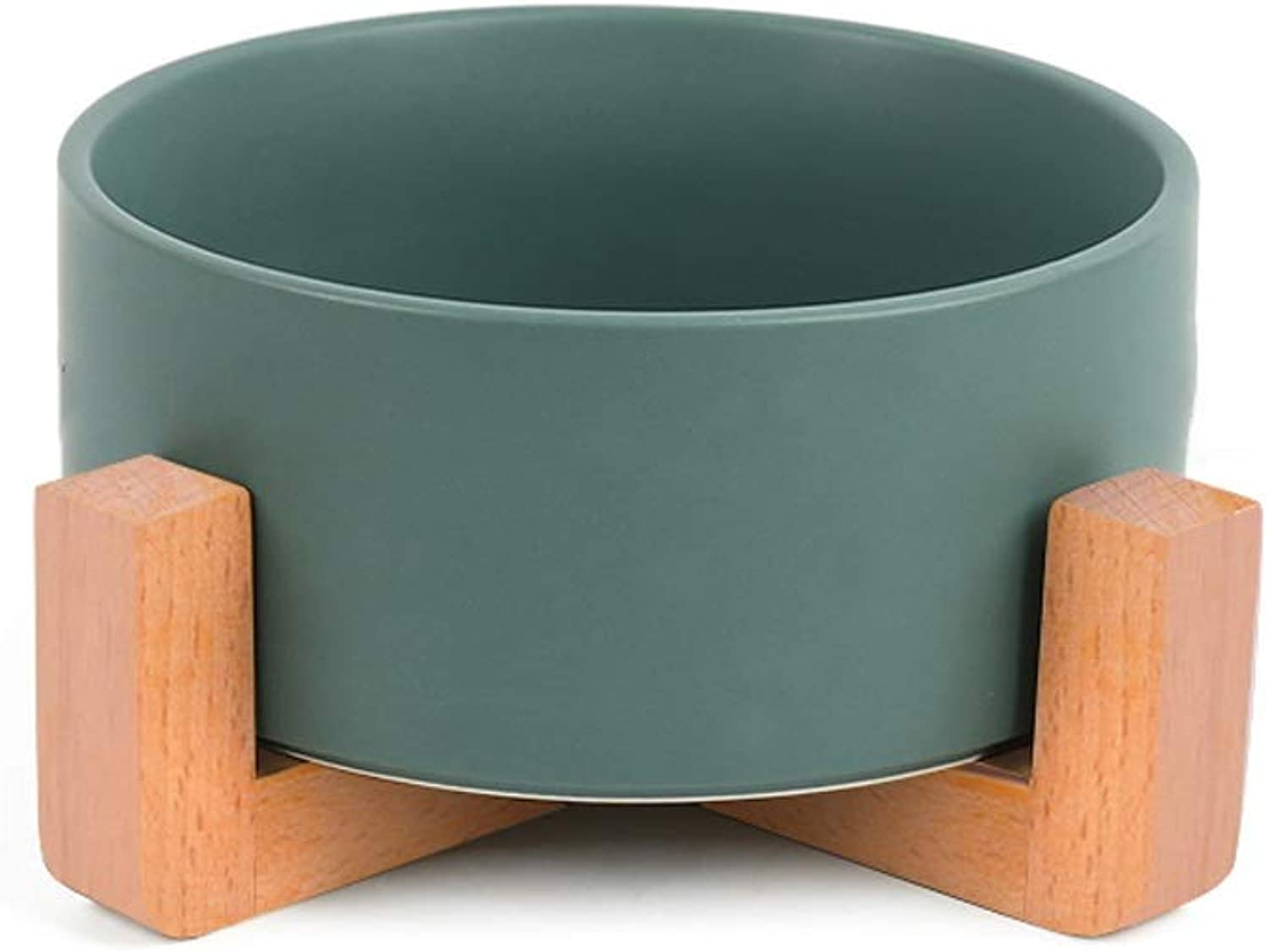 Cat Bowl Dog Bowl Cat Bowl Frame Cat Drinking Water Bowl (color   Green)