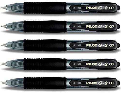 Pilot Gelschreiber G2-7 (Kurzer Stift 5er, Schwarz)