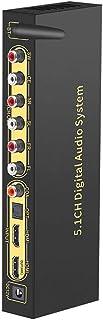RSGK 5.1 Audio Decoder, DTSHD Dolby Atmos, U Disk HDMI Bluetooth 5.0 Glasfaser ARC Koaxialkabel, Unterstützung Von Blu ray Player PS Computer Set Top Box Und Anderen Quellgeräten