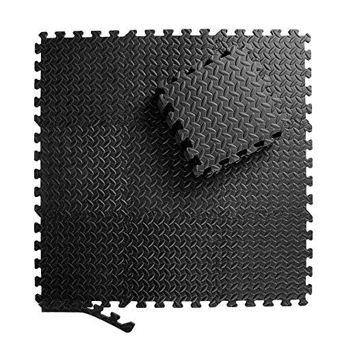 ZERRO CCLIFE Esterilla Puzzle para Suelos de Gimnasio y Fitness 30x30x1cm Suelo de Gimnasio de Goma Espuma EVA,18pcs, Color:DSZMT002A18ERswz