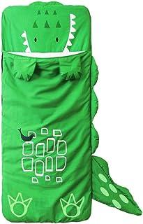 HIUGHJ, HIUGHJ Bolsa de Dormir de Animales Envoltura de Cama para Dormir Linda Calcetines Gruesos y cálidos Ropa de Cama Saco de niños Infantil Dibujos Animados de Invierno para niños pequeños, Verde