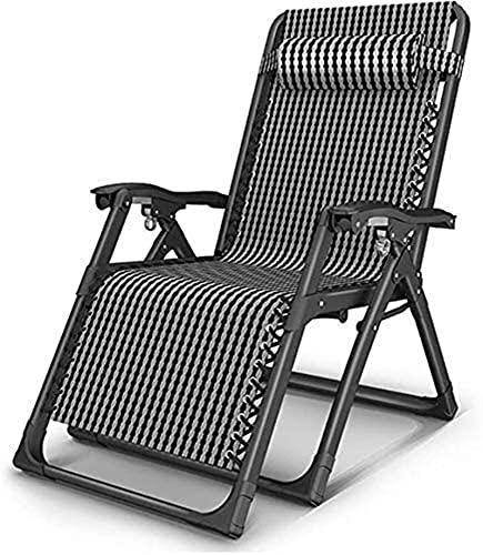 Sillón plegable para exteriores, reclinable para el almuerzo, siesta, hogar, silla de ocio para adultos, sofá perezoso, silla plegable, cama de playa portátil para acampar al aire libre, reposacabezas